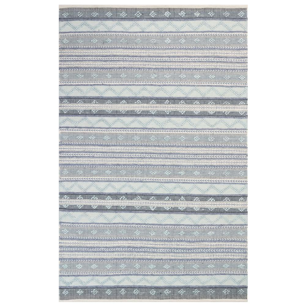 "Liora Manne 8271/03 Cosmos Gypsy Stripe Indoor/Outdoor Rug Blue 42""X66"""