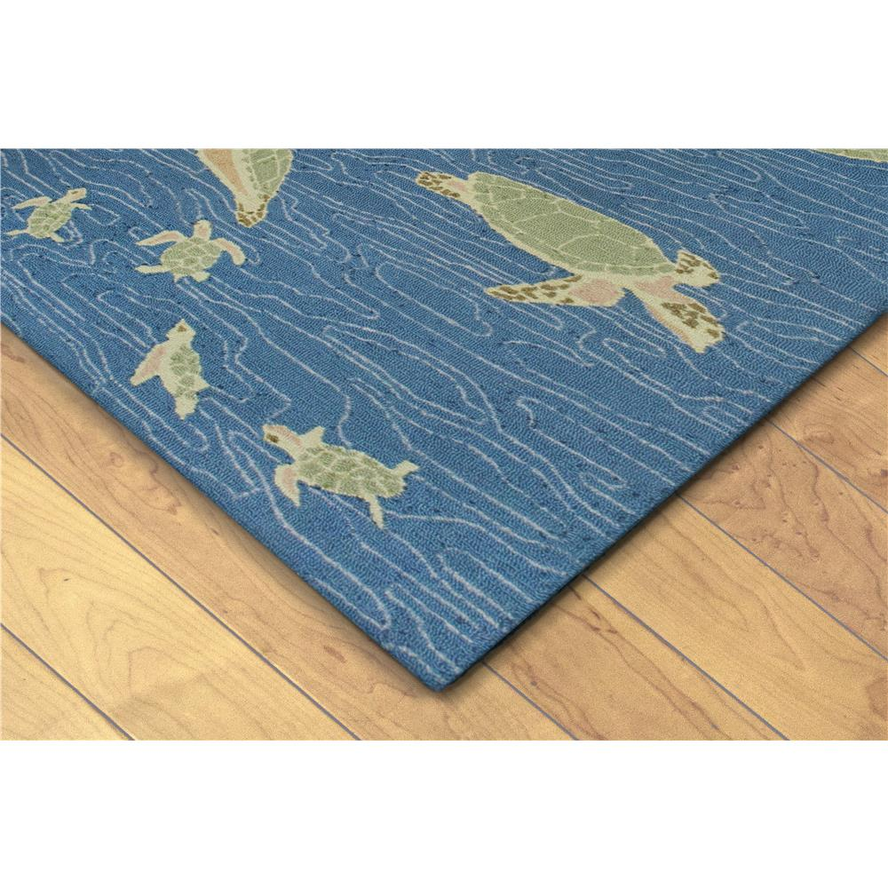 Liora Manne 6037/03  Lalunita Seaturtles Indoor Rug Blue 5