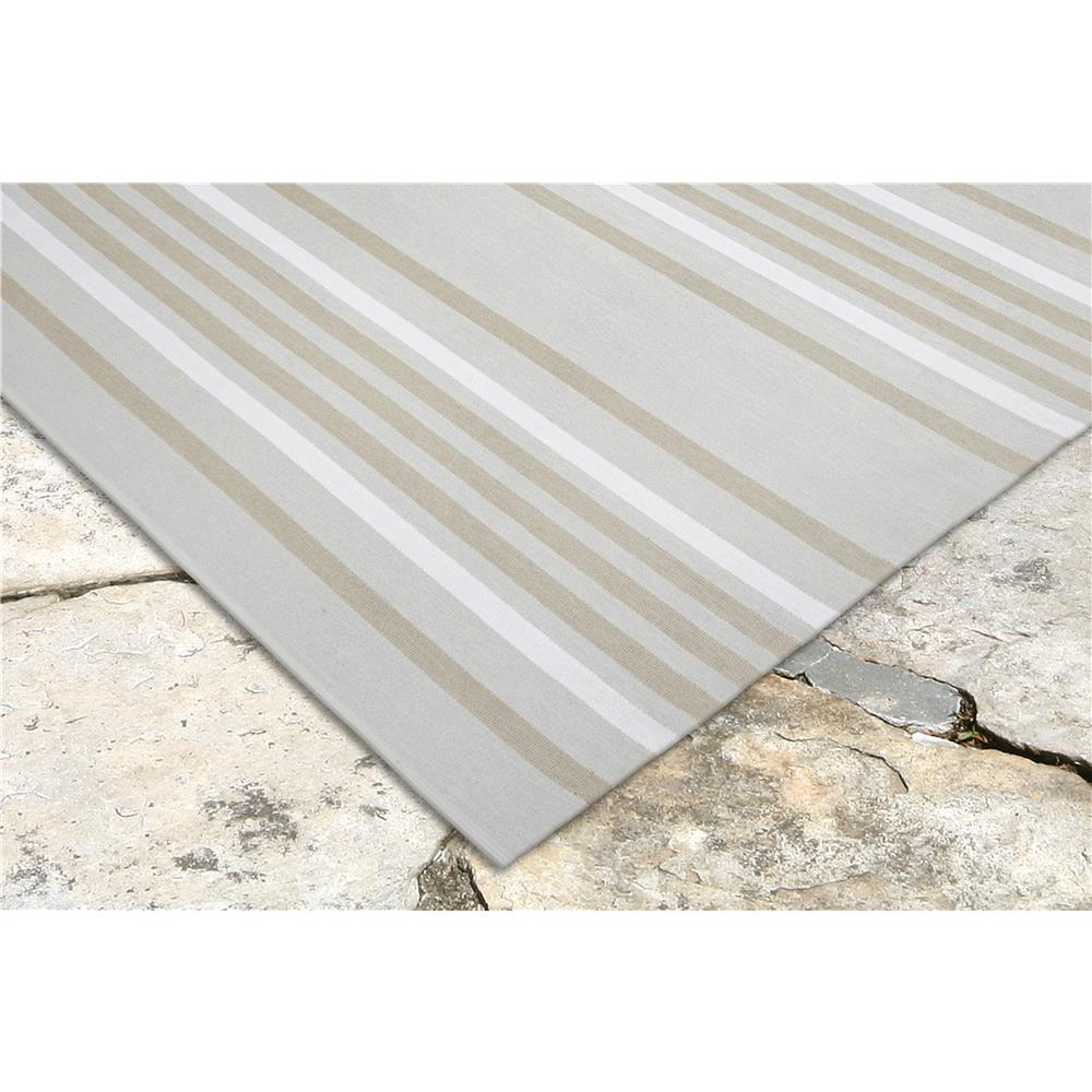 "Liora Manne 7858/12  Plaza Stripe Indoor/Outdoor Rug Natural 42""X66"""