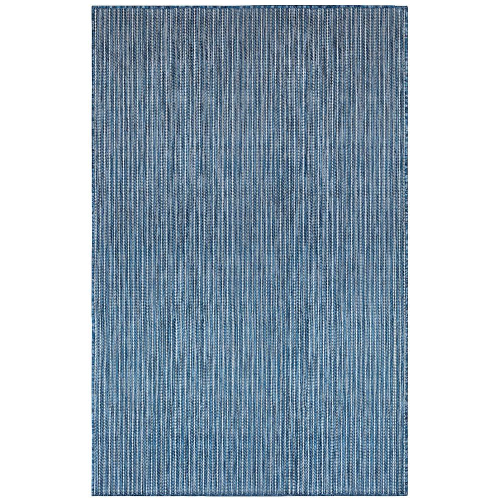 "Liora Manne 8422/33 Carmel Texture Stripe Indoor/Outdoor Rug Navy 39""X59"""