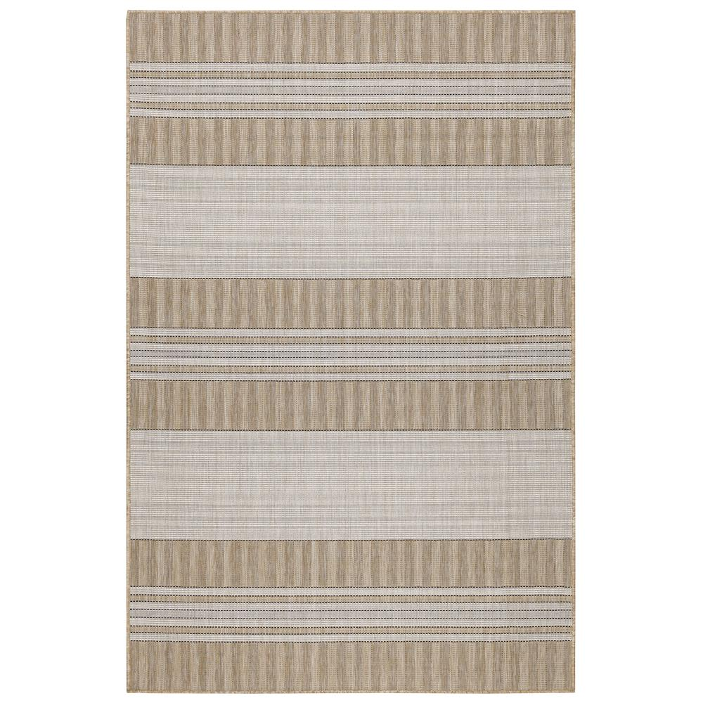 "Liora Manne 8435/12 Carmel Stripe Indoor/Outdoor Rug Sand 39""X59"""