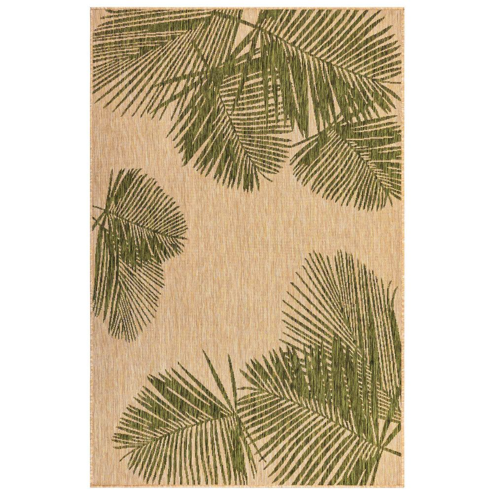 "Liora Manne 8439/06 Carmel Palm Indoor/Outdoor Rug Green 39""X59"""