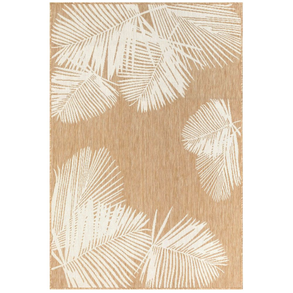 "Liora Manne 8439/12 Carmel Palm Indoor/Outdoor Rug Sand 39""X59"""