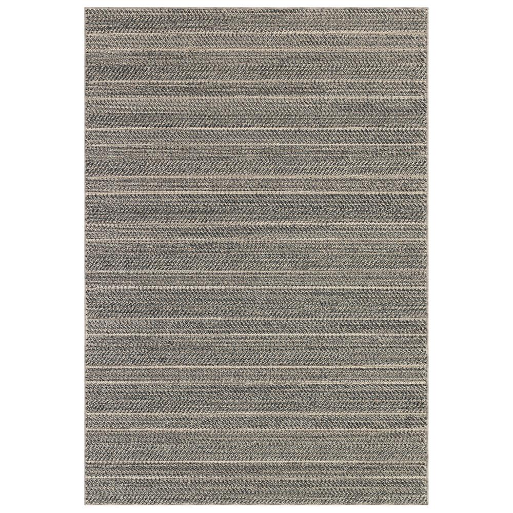 "Liora Manne 6535/47 Cove Chevron Stripe Indoor/Outdoor Rug Charcoal 39""X59"""