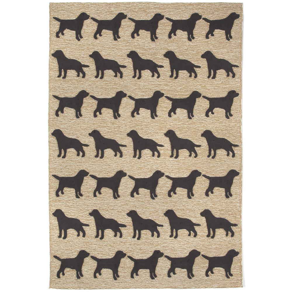Liora Manne FTP71146748 Frontporch Doggies Black Indoor/Outdoor Rug