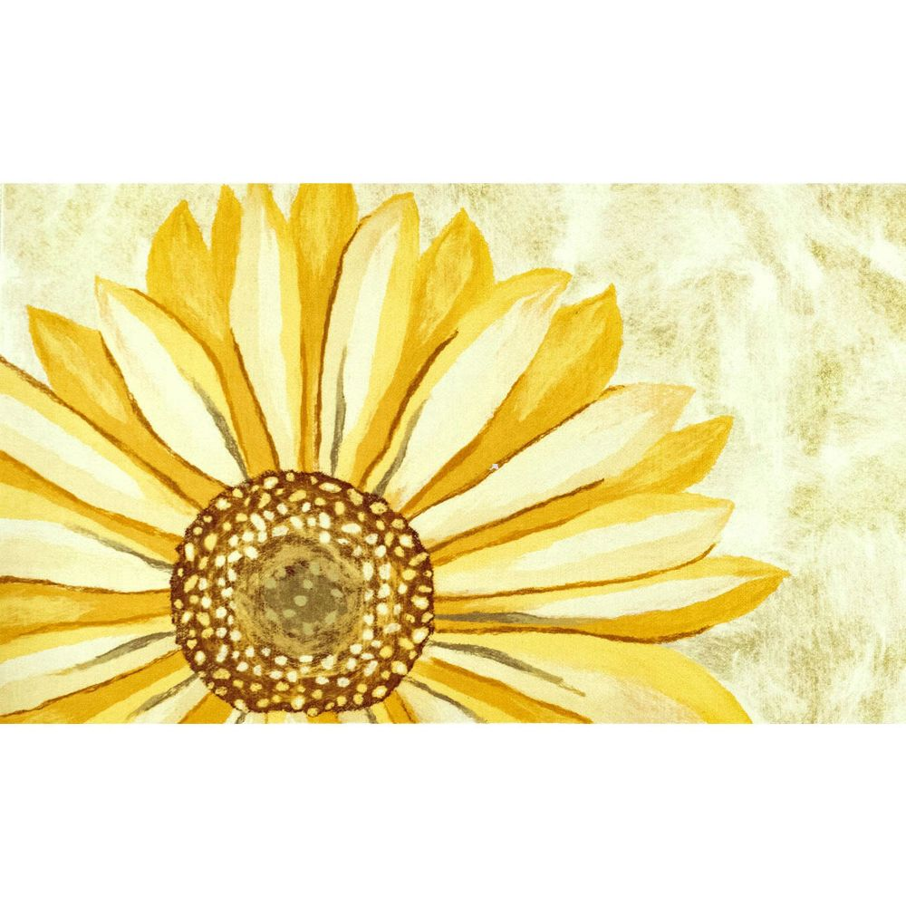 "Liora Manne ILU12326609  Illusions Sunflower Indoor/Outdoor Mat Yellow 19.5""X29.5"""