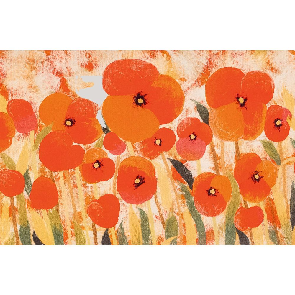 "Liora Manne ILU12328324  Illusions Poppies Indoor/Outdoor Mat Red 19.5""X29.5"""