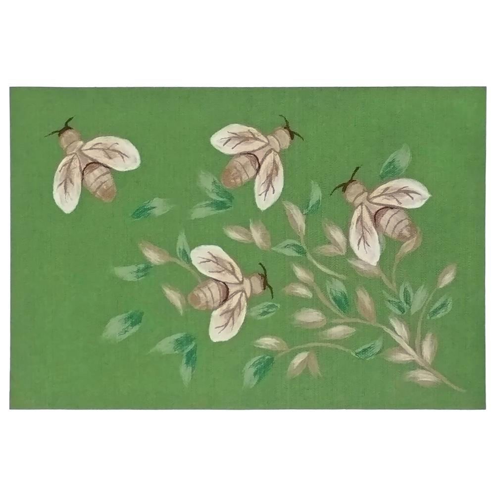 "Liora Manne 3289/06 Illusions Bees Indoor/Outdoor Mat Green 19.5""X29.5"""