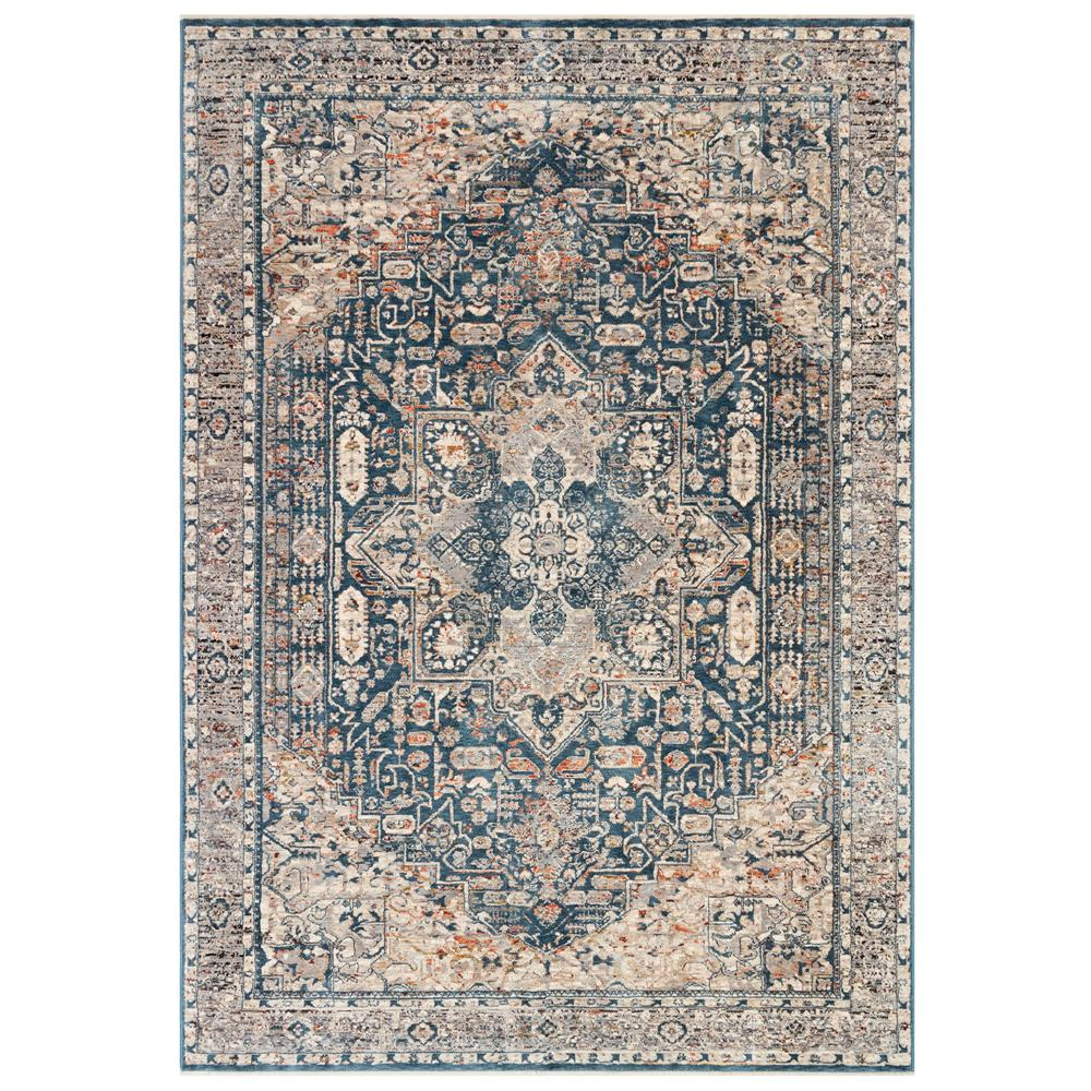 Liora Manne 2674/03 Laurel Heriz Indoor Rug in Blue 1 ft. 9 in. X 3 ft.