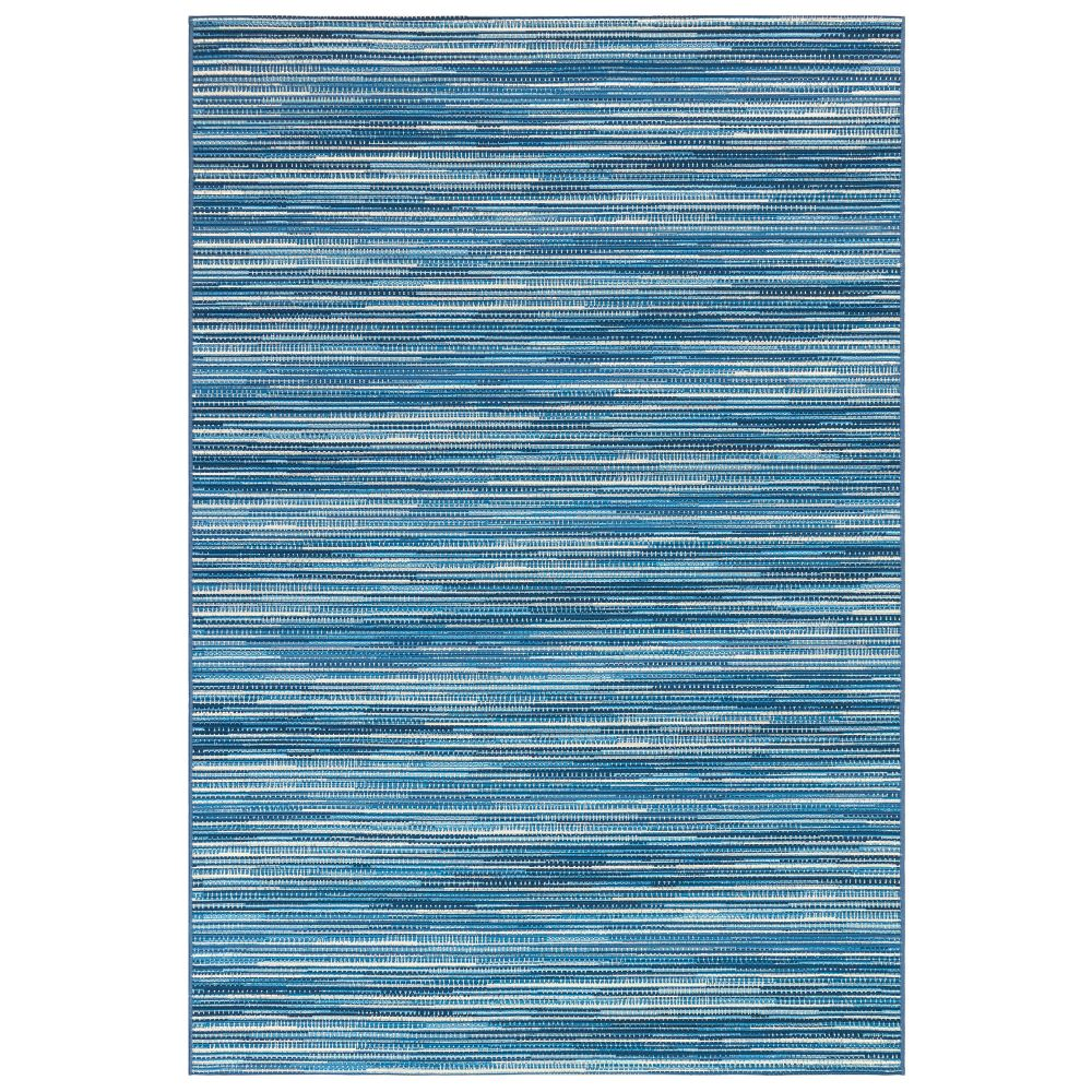 "Liora Manne 8052/03 Marina Stripes Indoor/Outdoor Rug China Blue 39""X59"""
