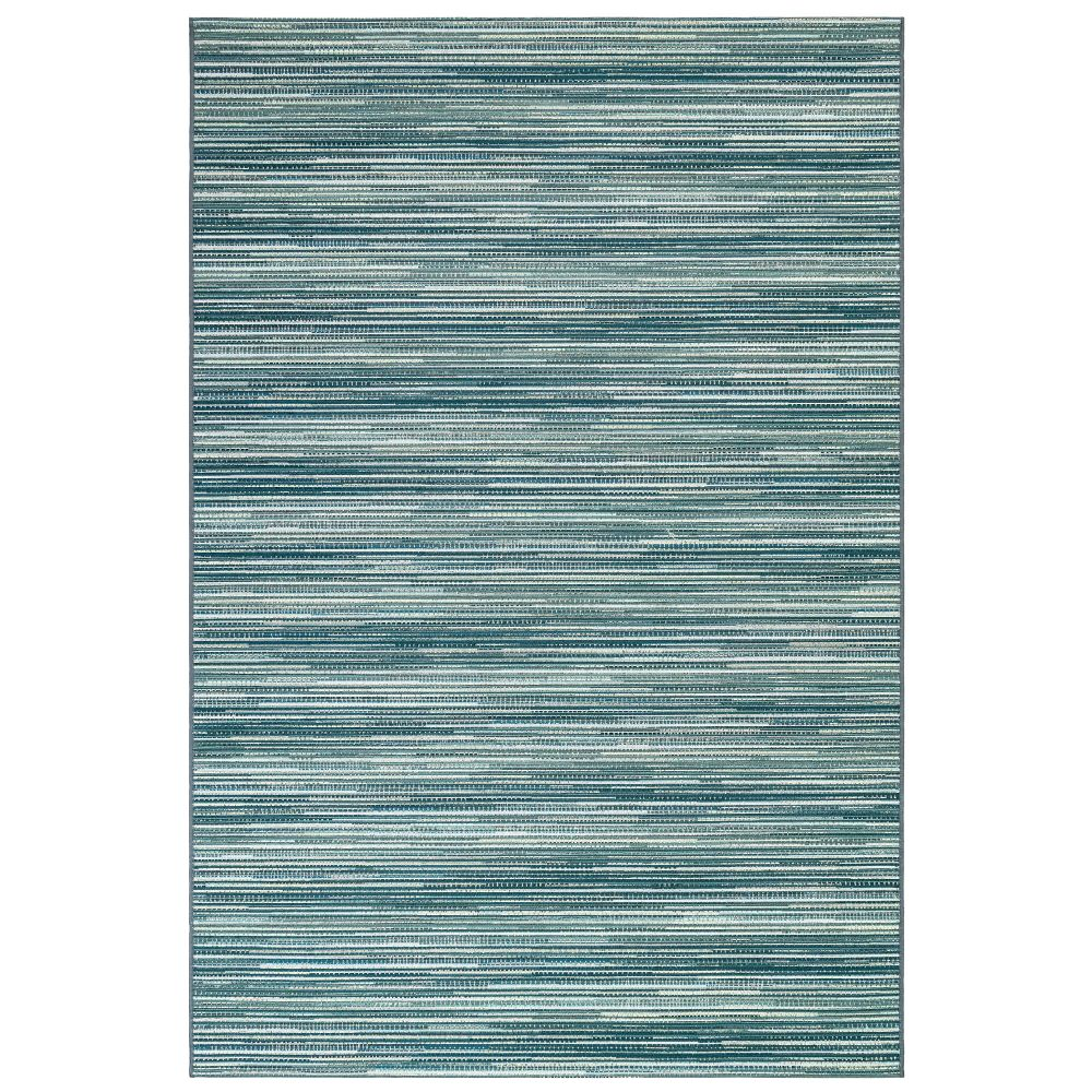 "Liora Manne 8052/04 Marina Stripes Indoor/Outdoor Rug Aqua 39""X59"""