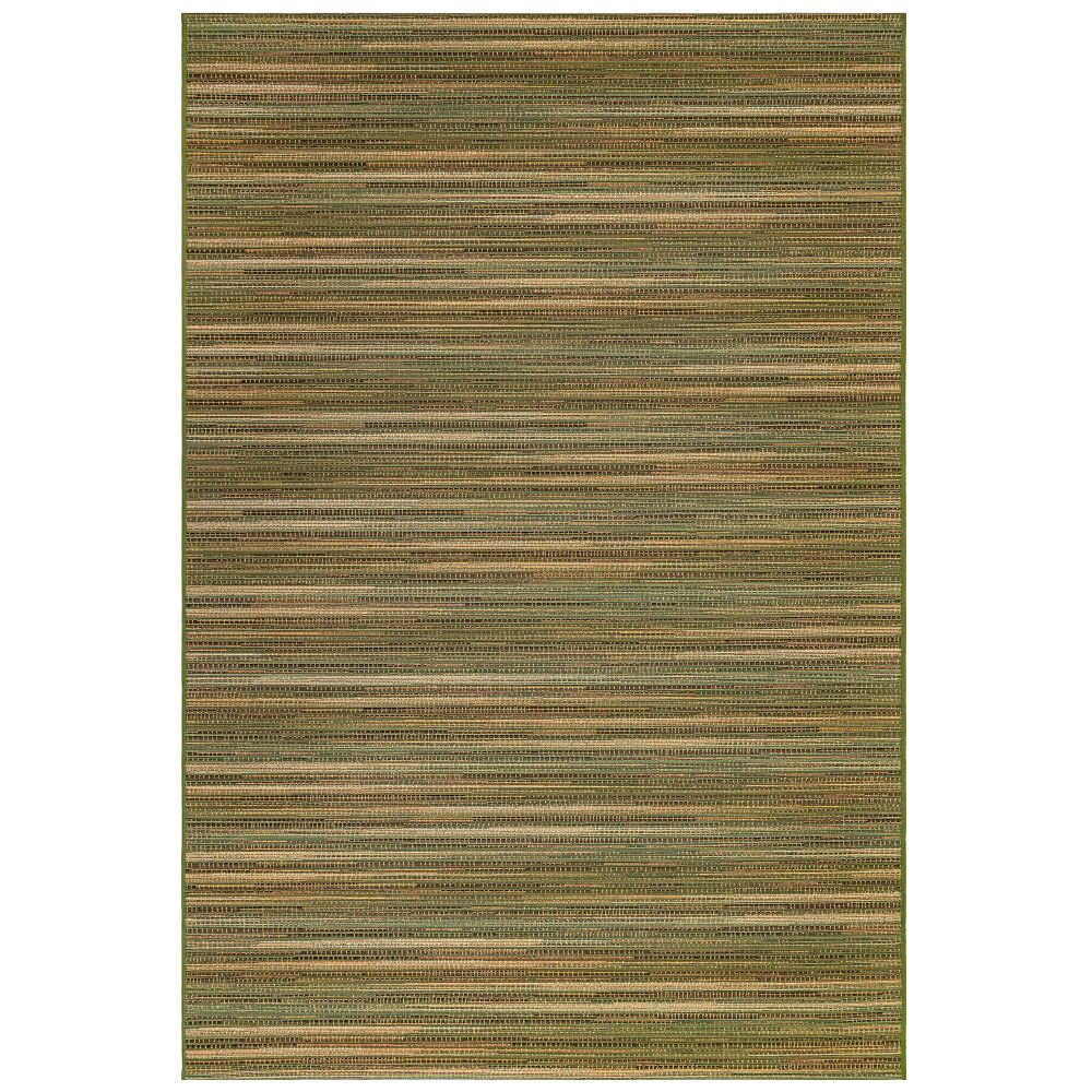 "Liora Manne 8052/06 Marina Stripes Indoor/Outdoor Rug Green 39""X59"""