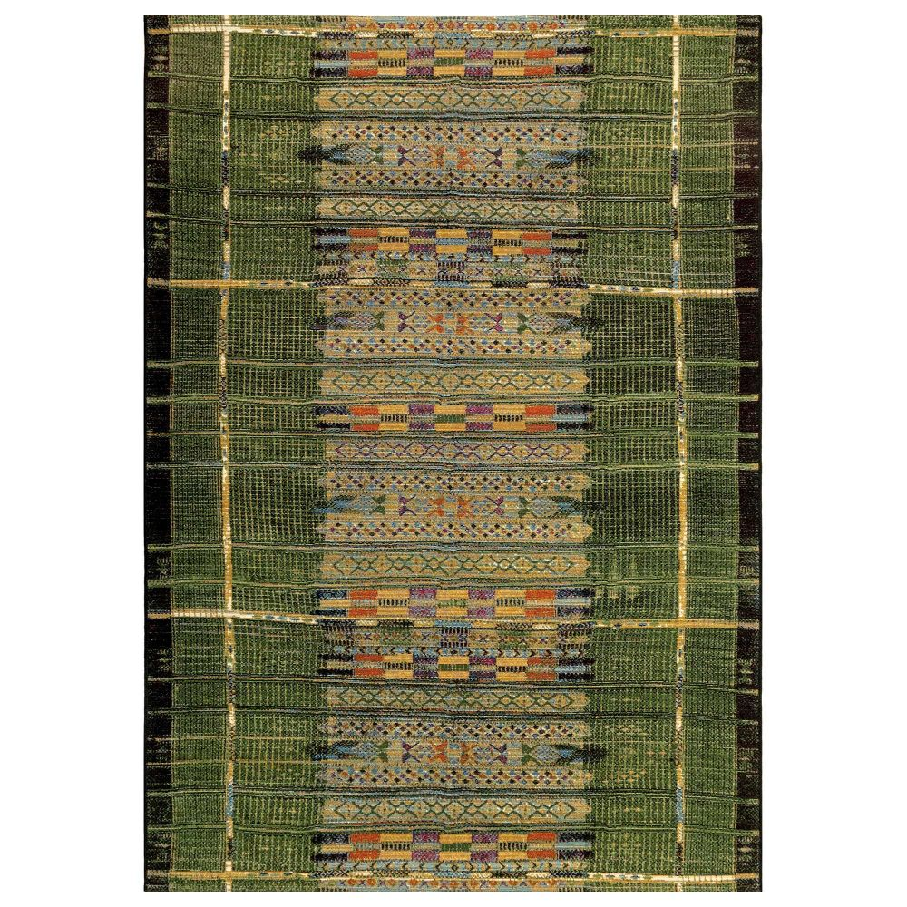 "Liora Manne 8057/06 Marina Tribal Stripe Indoor/Outdoor Rug Green 39""X59"""