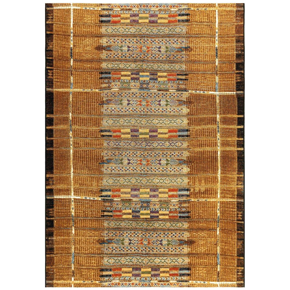 "Liora Manne 8057/09 Marina Tribal Stripe Indoor/Outdoor Rug Gold 39""X59"""