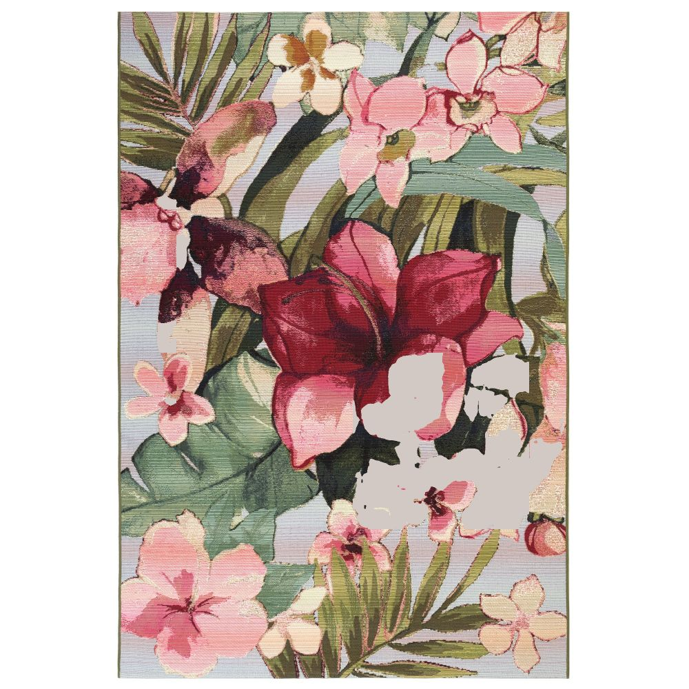 "Liora Manne 8063/44 Marina Tropical Floral Indoor/Outdoor Rug Multi 39""X59"""
