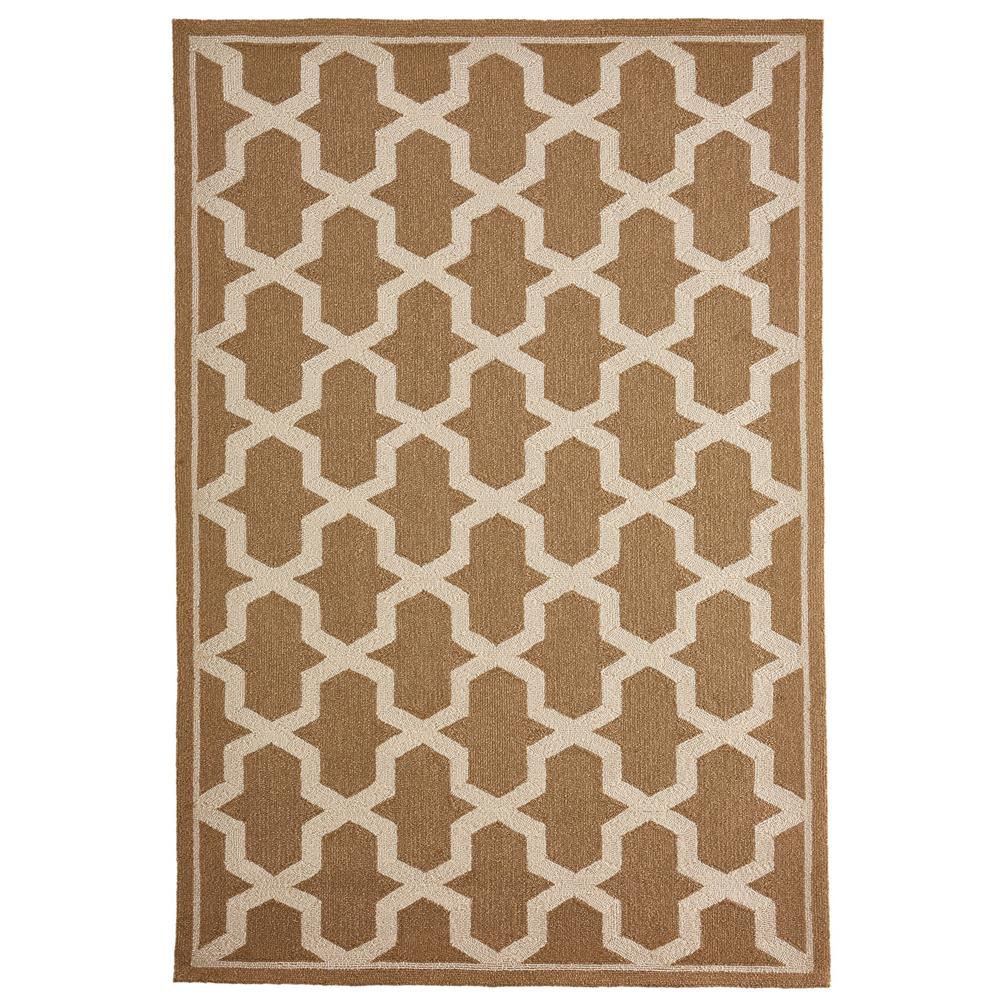 "Liora Manne 7414/11  Napoli Global Geo Indoor/Outdoor Rug Camel 42""X66"""