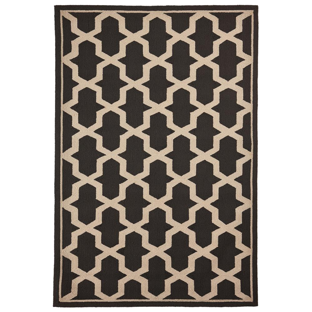 "Liora Manne 7414/47  Napoli Global Geo Indoor/Outdoor Rug Grey 42""X66"""