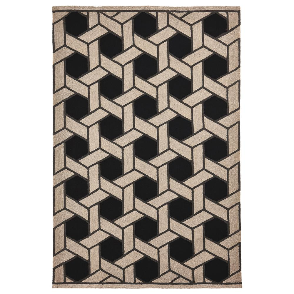 Liora Manne 7415/48  Napoli Basket Indoor/Outdoor Rug Black 5