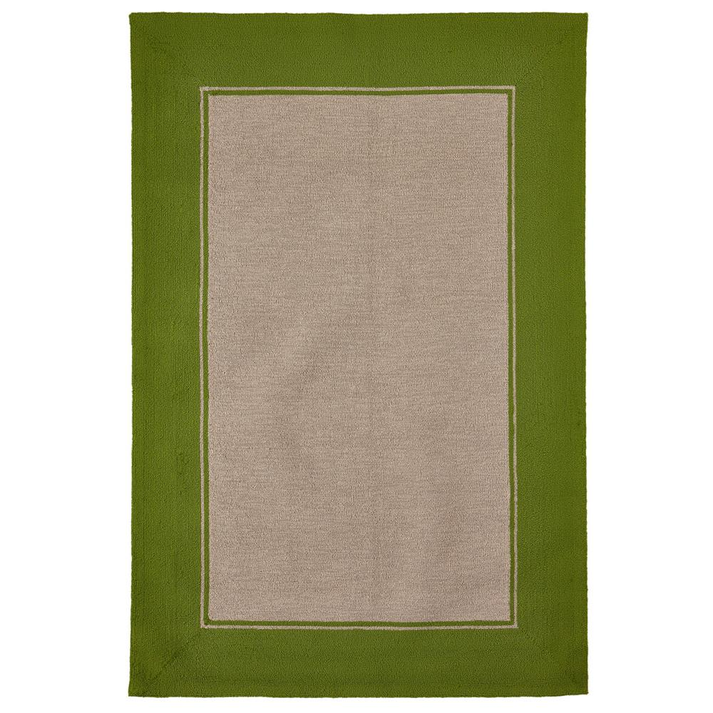 "Liora Manne 7420/06  Napoli Border Indoor/Outdoor Rug Green 42""X66"""