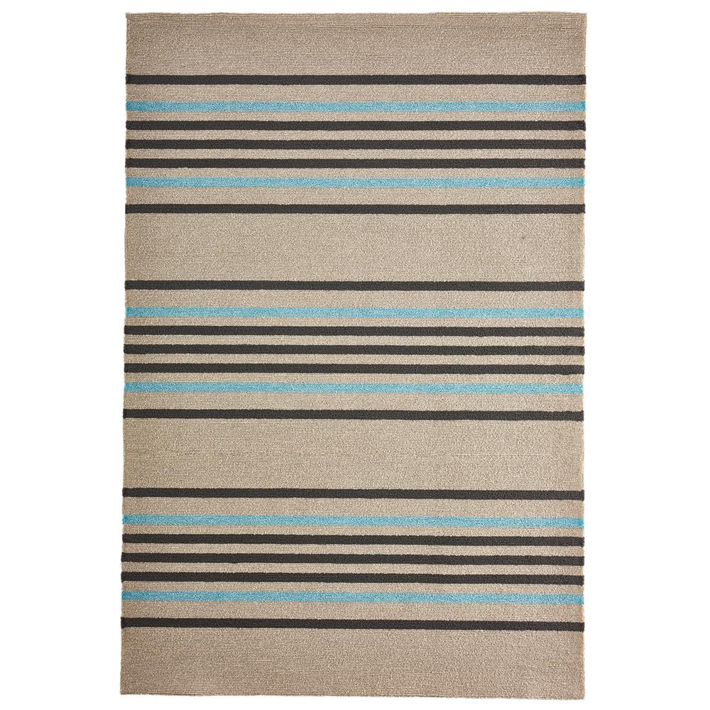Liora Manne 7421/04  Napoli Stripe Indoor/Outdoor Rug Blue 5