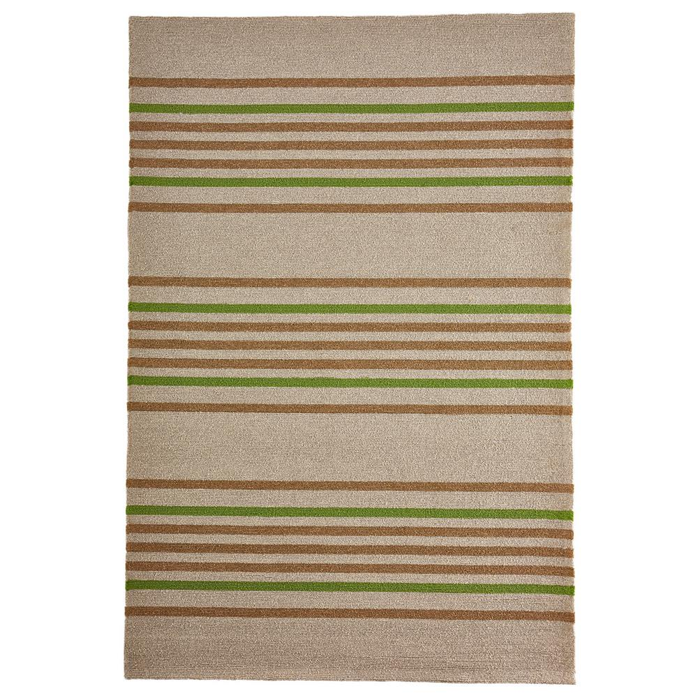 "Liora Manne 7421/06  Napoli Stripe Indoor/Outdoor Rug Green 42""X66"""