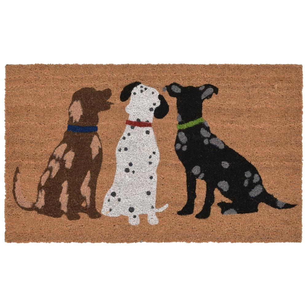 "Liora Manne 2003/12  Natura Three Dogs Indoor/Outdoor Mat Natural 18""X30"""