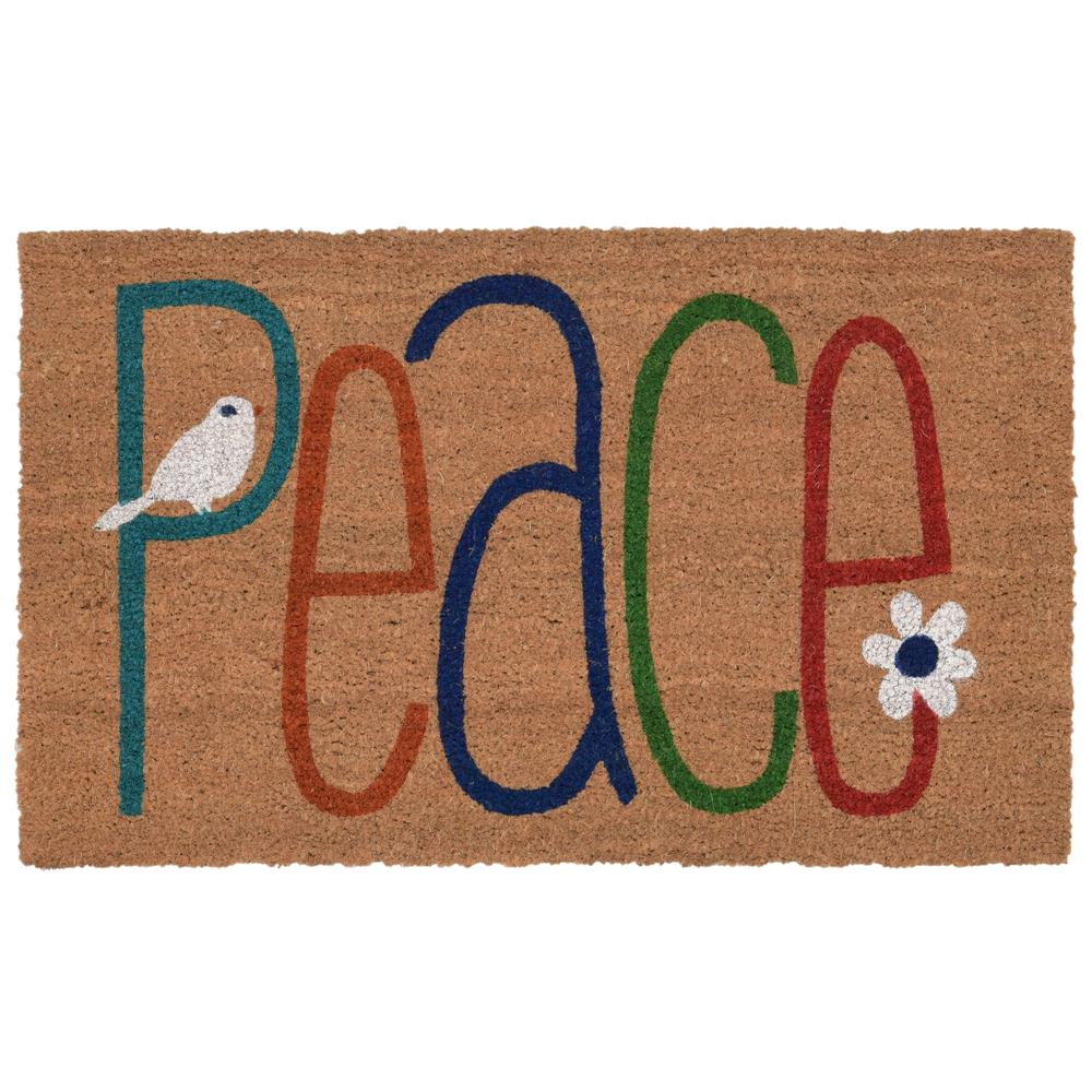 "Liora Manne 2004/12  Natura Peace Indoor/Outdoor Mat Natural 18""X30"""