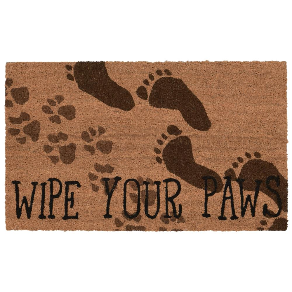 "Liora Manne 2021/12  Natura Wipe Your Paws Indoor/Outdoor Mat Natural 18""X30"""