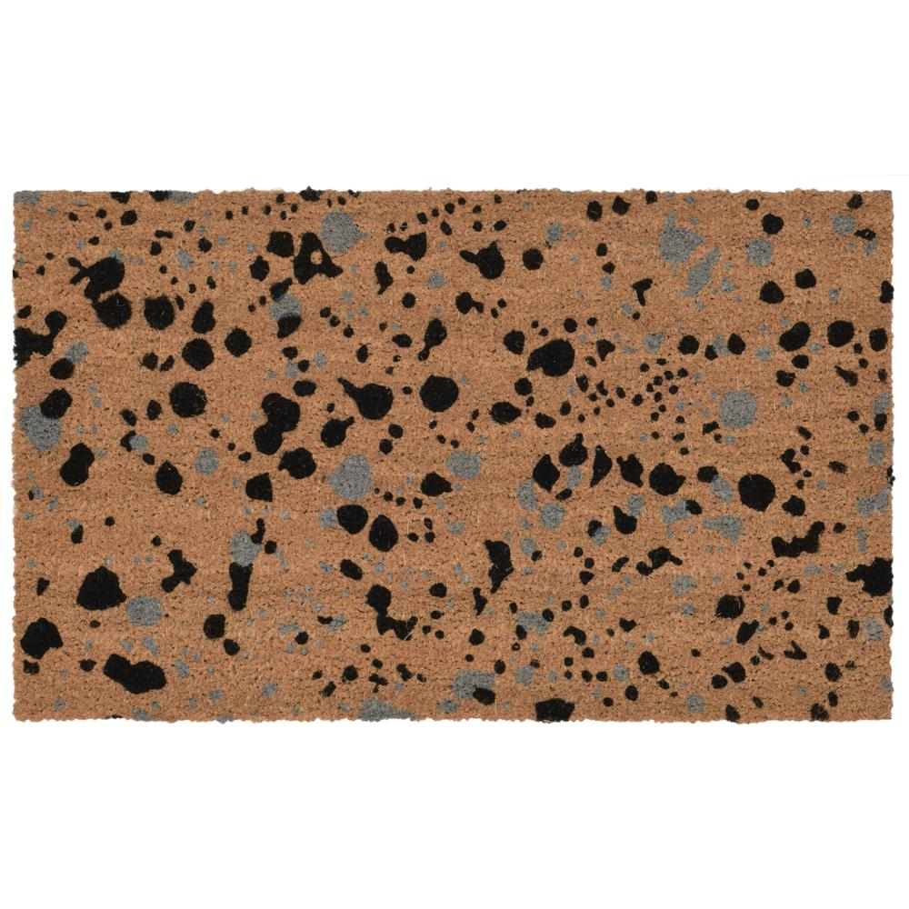 "Liora Manne 2027/47  Natura Splash Indoor/Outdoor Mat Black 18""X30"""