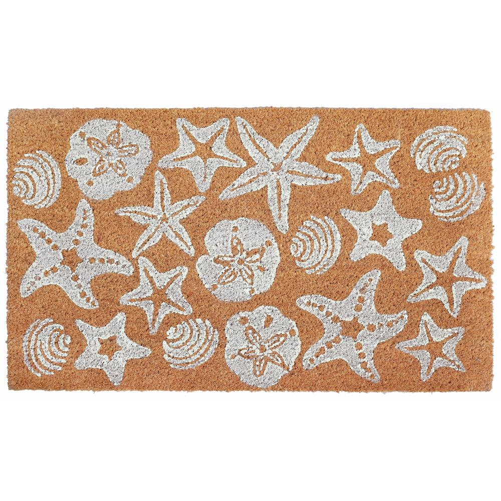 "Liora Manne 2032/02  Natura Shells Indoor/Outdoor Mat White 18""X30"""