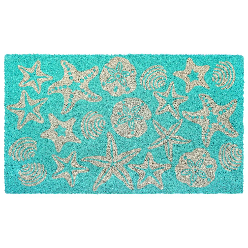 "Liora Manne NTR12203204  Natura Shells Indoor/Outdoor Mat Blue 18""X30"""