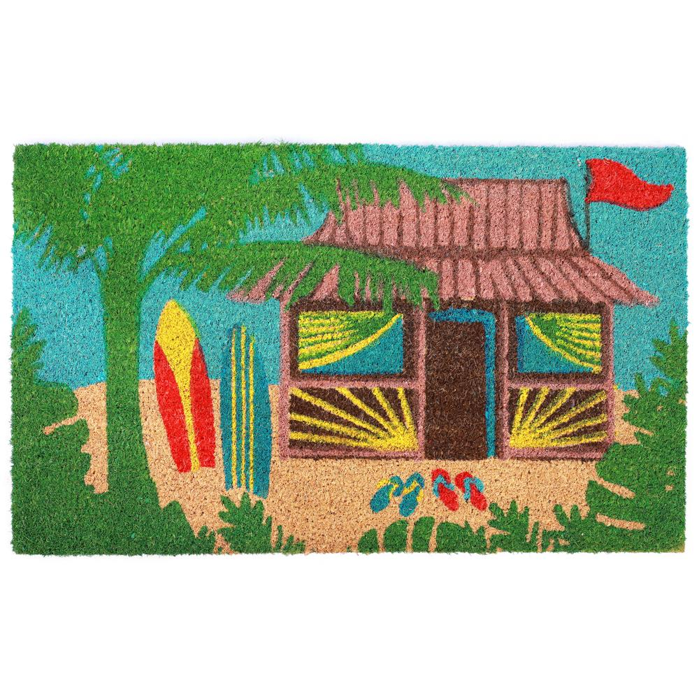 "Liora Manne 2036/44  Natura Tiki Hut Indoor/Outdoor Mat Multi 18""X30"""