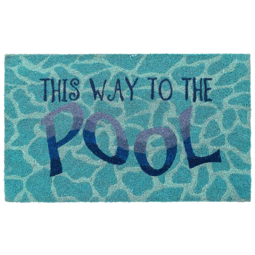 "Liora Manne 2207/03 Natura This Way To The Pool Outdoor Mat Water 24""X36"""