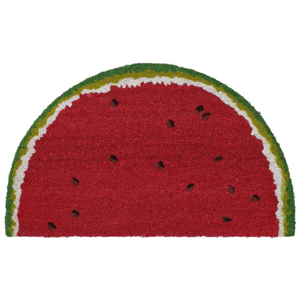 "Liora Manne NTRH1202324  Natura Watermelon Indoor/Outdoor Mat Red 18""X30"" 1/2 RD"