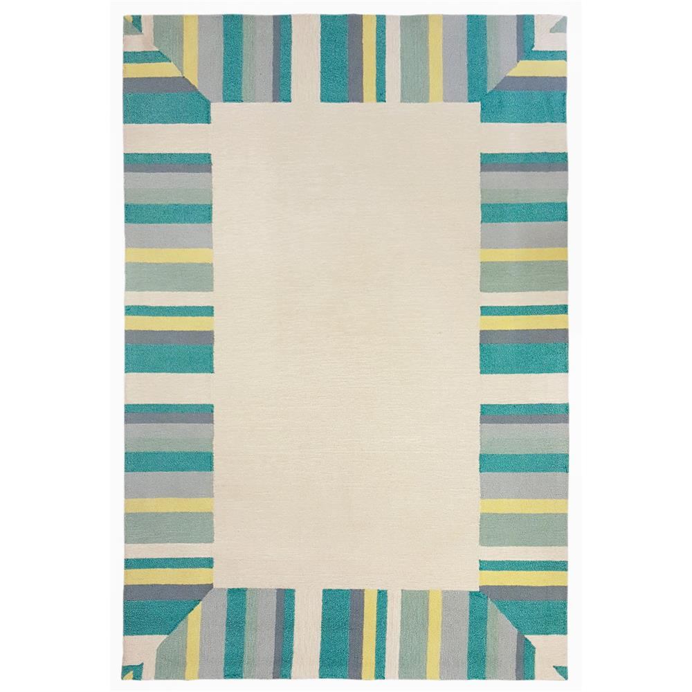 Liora Manne 1675/04 Newport Beach Bdr Indoor/Outdoor Rug Blue 8
