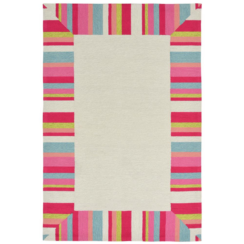 Liora Manne 1675/44 Newport Beach Bdr Indoor/Outdoor Rug Pink 8