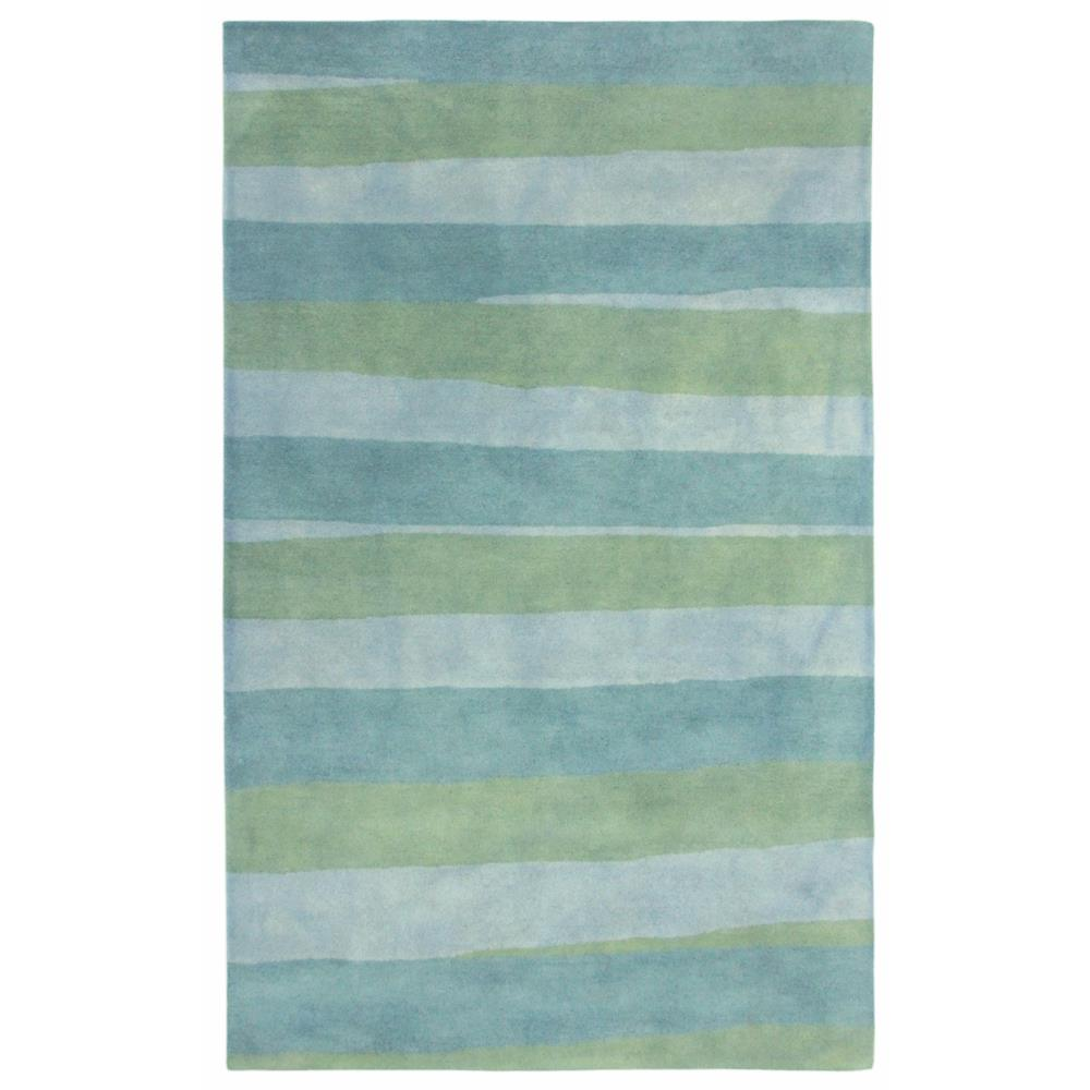 "Liora Manne 7281/04 Piazza Stripes Indoor Rug Blue 42""X66"""