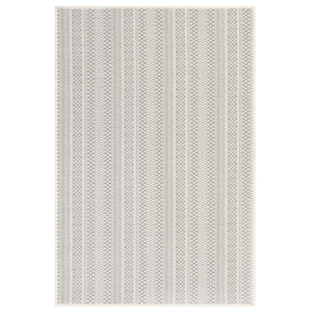 "Liora Manne 6003/38 Plymouth Texture Stripe Indoor/Outdoor Rug Silver 39""X59"""
