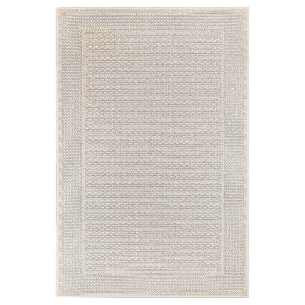 "Liora Manne 6009/11 Plymouth Border Indoor/Outdoor Rug Taupe 39""X59"""