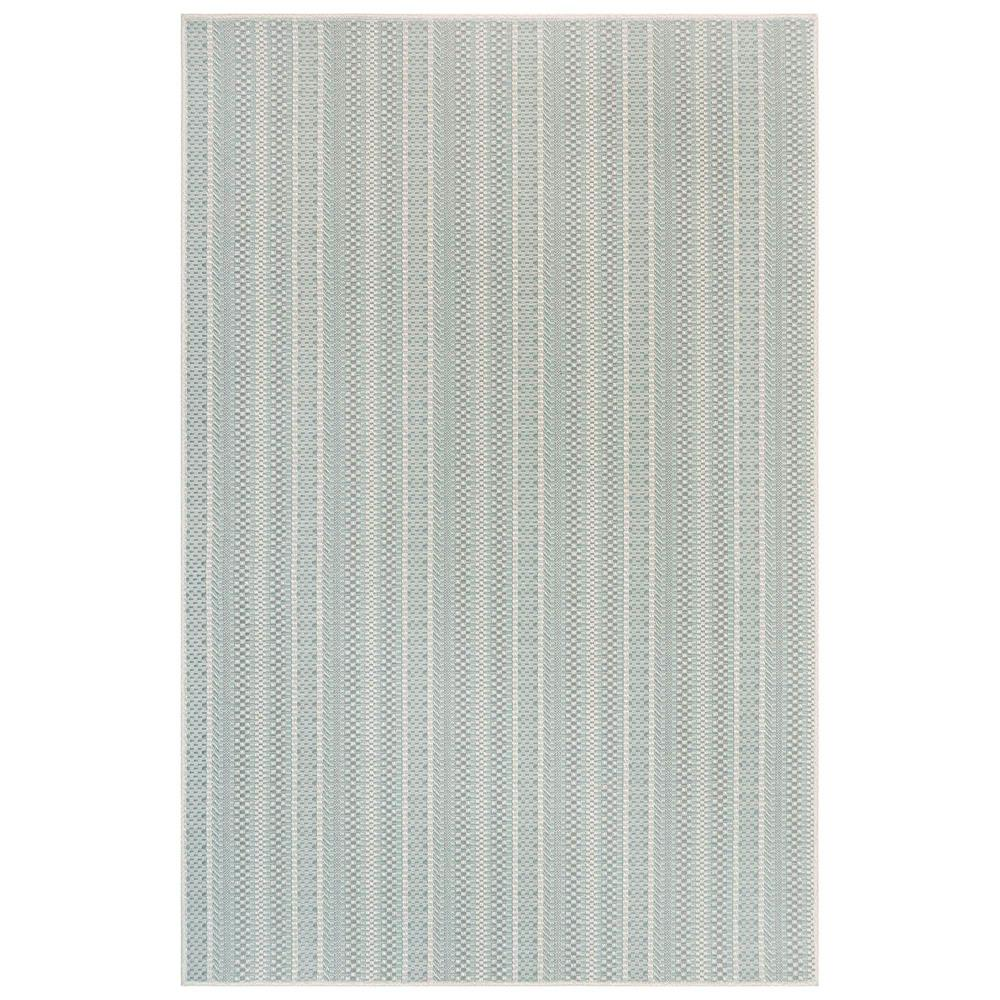 "Liora Manne 6003/04 Plymouth Texture Stripe Indoor/Outdoor Rug Aqua 39""X59"""