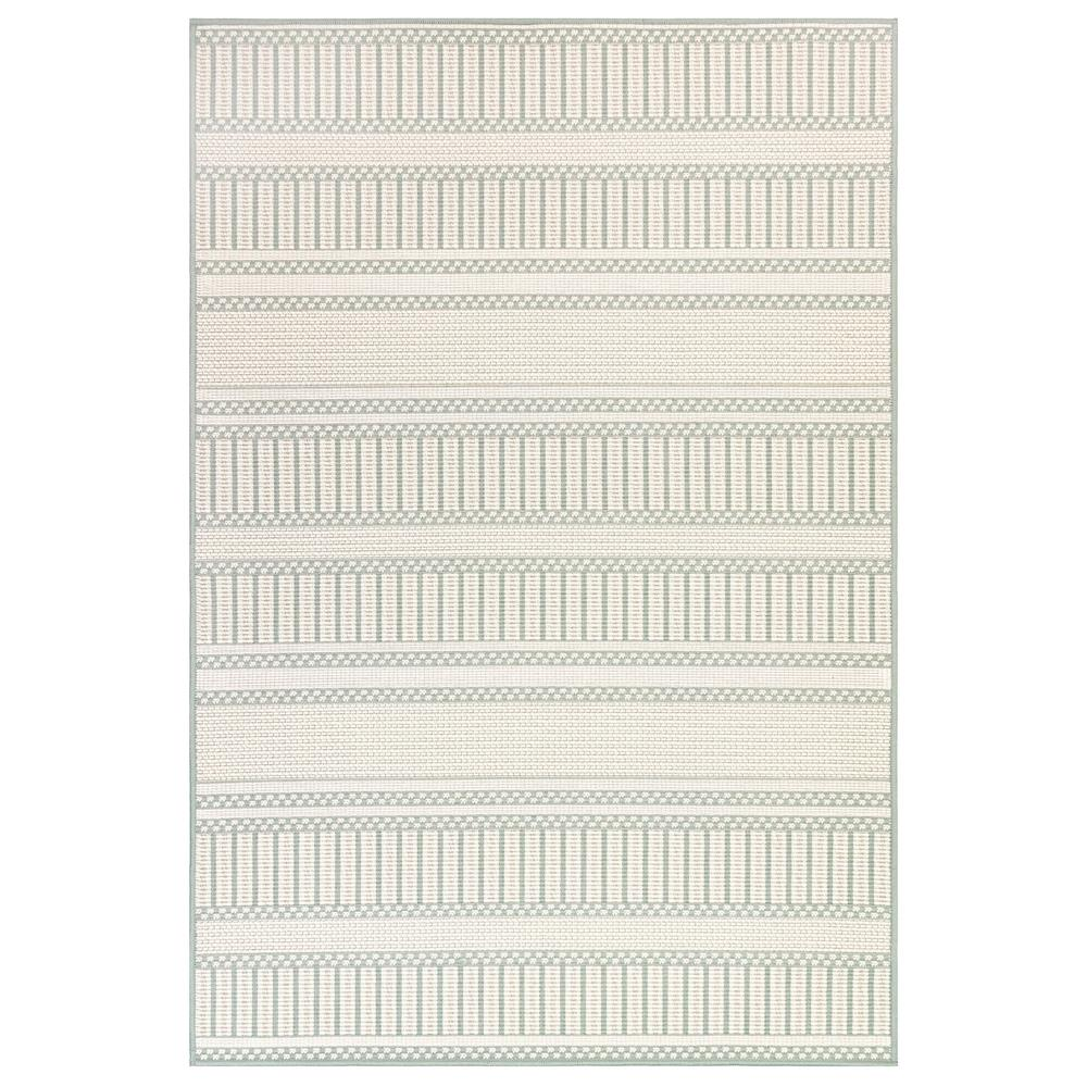 "Liora Manne 6010/04 Plymouth Modern Stripe Indoor/Outdoor Rug Aqua 39""X59"""