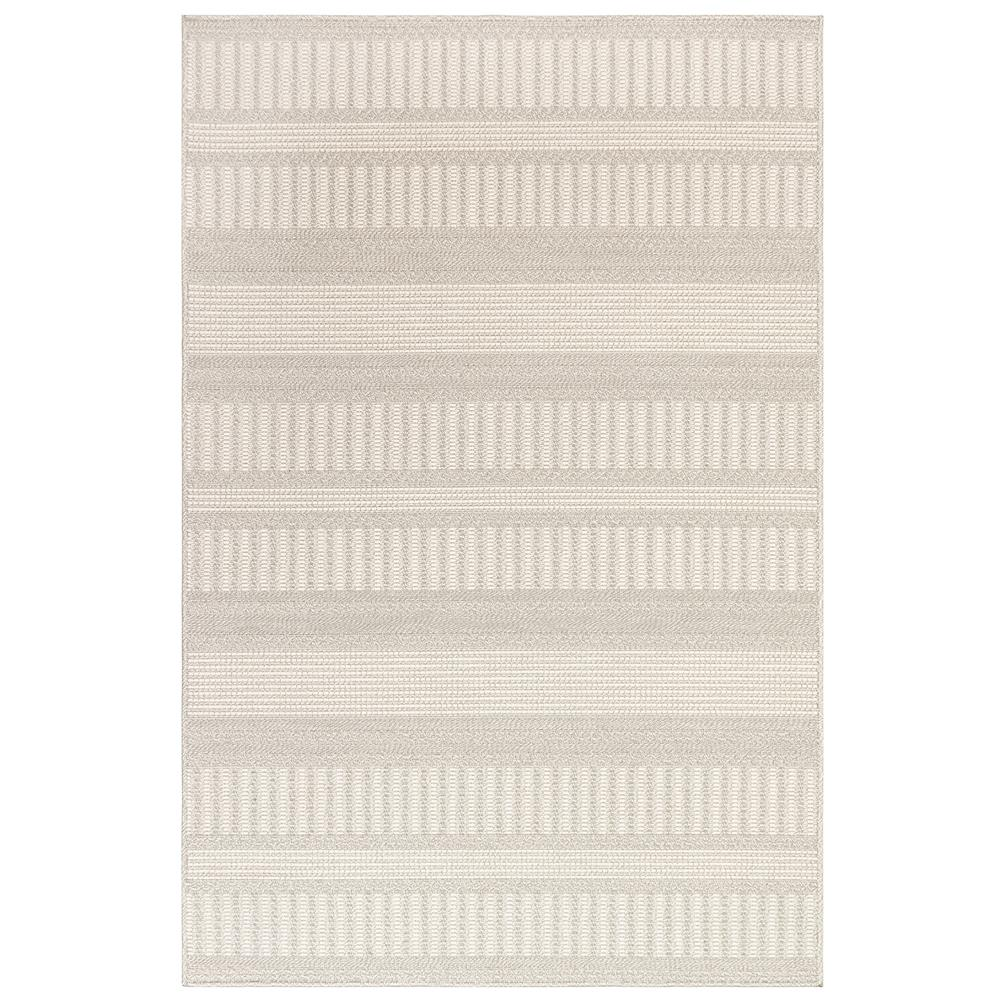 "Liora Manne 6010/11 Plymouth Modern Stripe Indoor/Outdoor Rug Taupe 39""X59"""