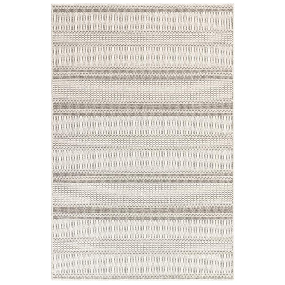 "Liora Manne 6010/38 Plymouth Modern Stripe Indoor/Outdoor Rug Silver 39""X59"""