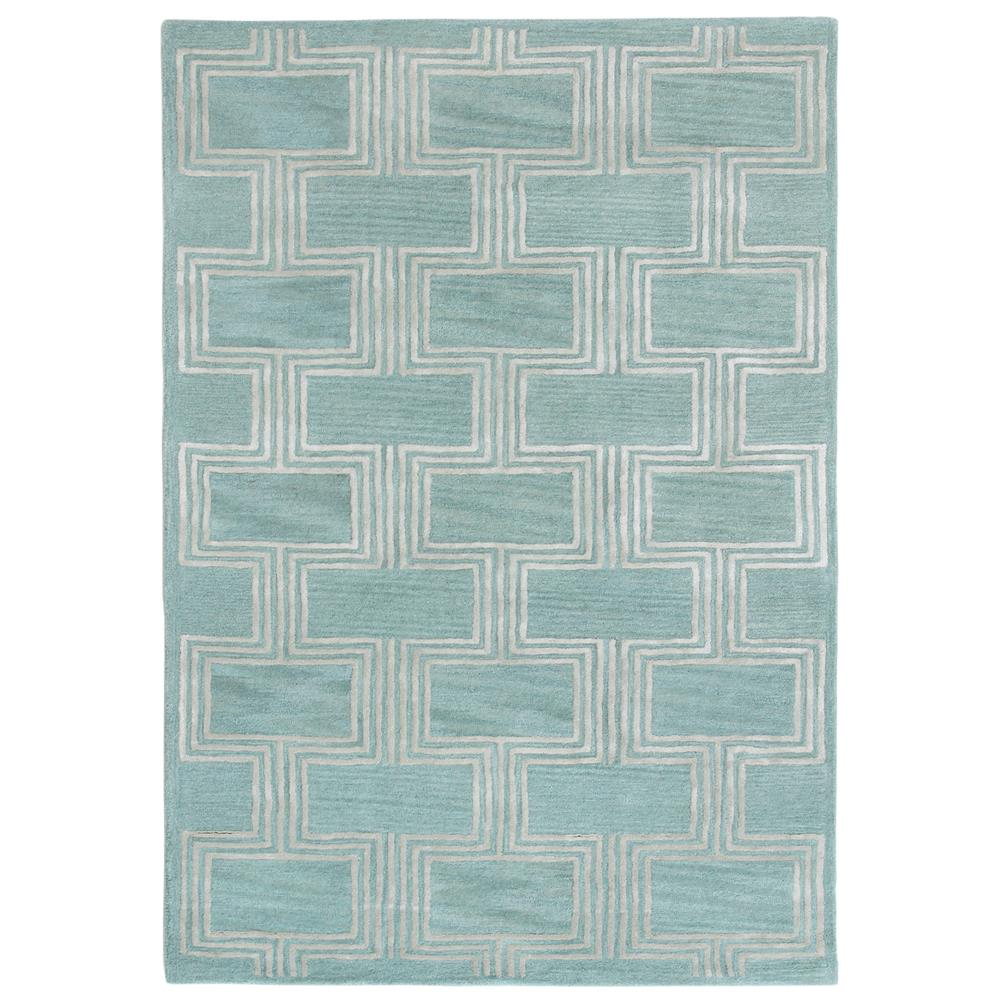 "Liora Manne 9304/04 Roma Boxes Indoor Rug Blue 42""X66"""