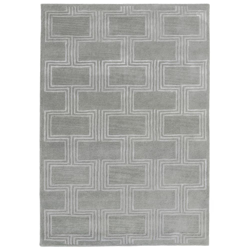 "Liora Manne 9304/47 Roma Boxes Indoor Rug Grey 42""X66"""