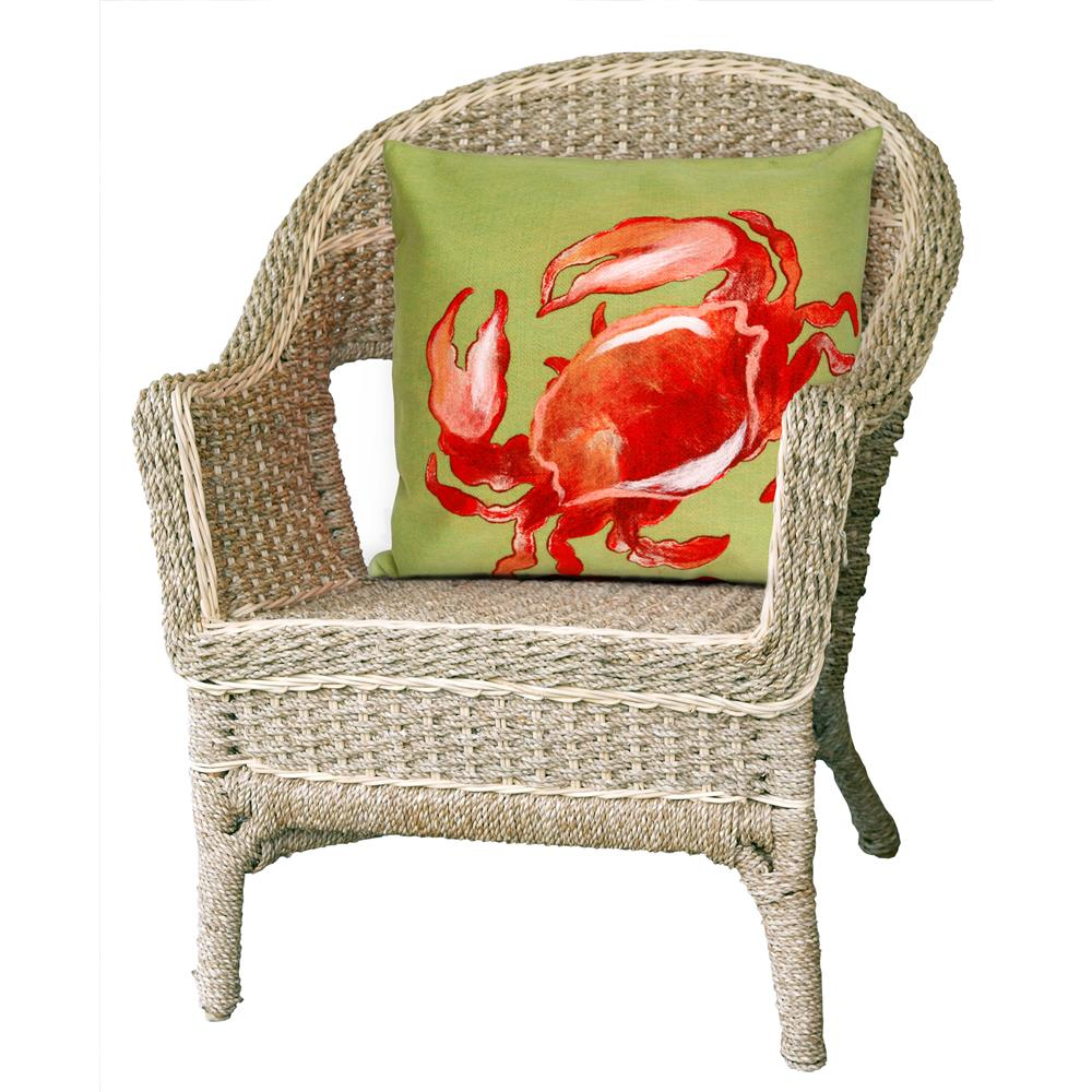 "Liora Manne 4154/24  Visions I Crab Indoor/Outdoor Pillow Red 12""X20"""