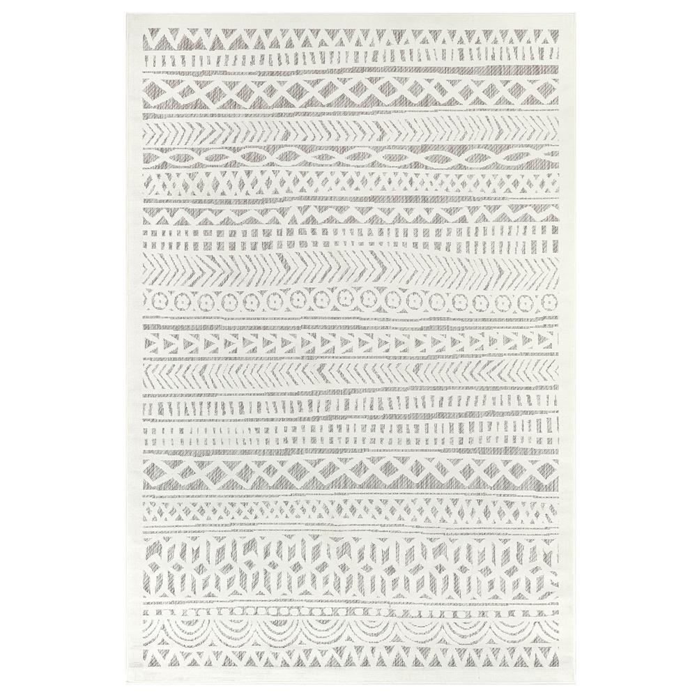 "Liora Manne 7036/12 Rialto Tribal Stripe Indoor/Outdoor Rug Ivory 39""X59"""