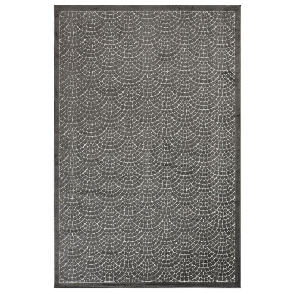 Liora Manne 7039/47 Rialto Mykonos Indoor/Outdoor Rug in Grey 6 ft. 6 in. X 9 ft. 4 in.