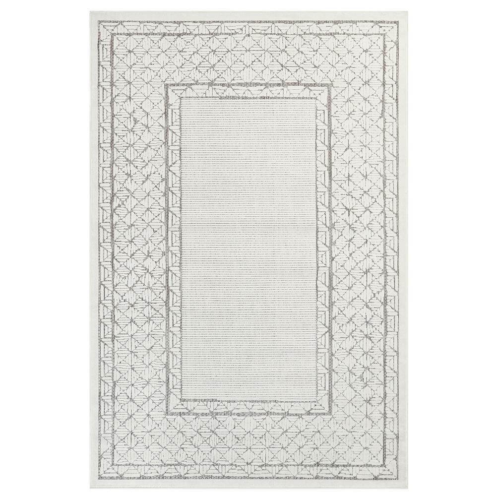 "Liora Manne 7040/12 Rialto Border Indoor/Outdoor Rug Ivory 39""X59"""