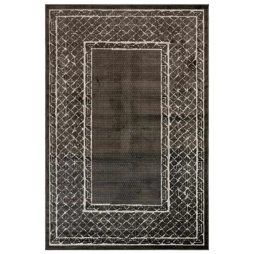 "Liora Manne 7040/47 Rialto Border Indoor/Outdoor Rug Charcoal 39""X59"""